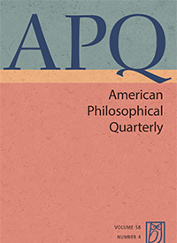 American Philosophical Quarterly cover