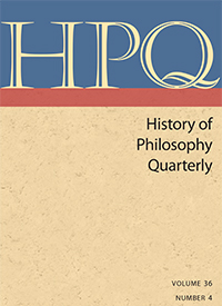 History of Philosophy Quarterly cover