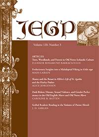 JEGP (Journal of English and Germanic Philology) cover