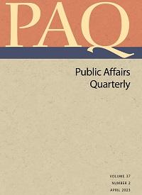 Public Affairs Quarterly cover